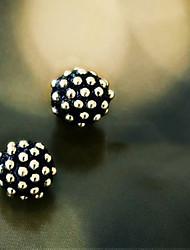 Meteor Nail Half Ball Earrings
