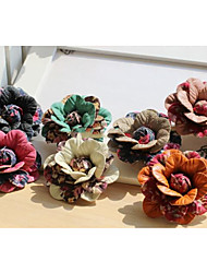 PU Leather Floral Shape Brooch(More Colors)