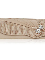 Satin With Crystal/Rhinestone Evening Bag/Clutch (More Colors)
