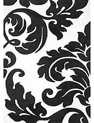 acrílico alfombras peludas zona con motivo de hojas artisctic 3 '* 5'