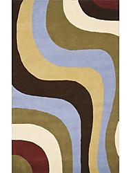 хохолком шерсти ковры области с изогнутой полосой шаблон 3 '* 5'