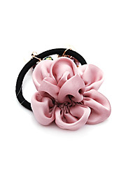 Gathered Flower Rubber Hair Band