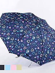 impression coeur parapluie portable plié