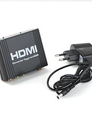 1080P YUV and SPDIF To HDMI V1.3 Converter (Black)