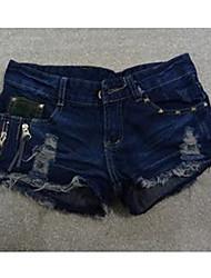 Zipper Nail Jean Pants