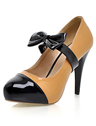 Leatherette Stiletto Pumps With Removable Bow For Party/Evening (More Colors)