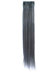 3 piezas sintéticas clip en extensiones de pelo liso con 2 clips - 4 colores disponibles