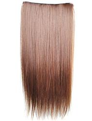 Пряди синтетических прямых волос на клипсе (5 шт., 6 цветов)
