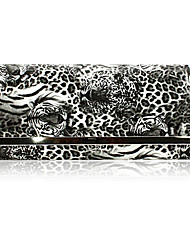 Faux Leather With Floral Print Evening Bag/Clutch (More Colors)