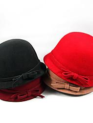 elegante chapéu de feltro de lã arco (mais cores)
