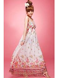 Chiffon Maxi Dress With Spaghetti Straps (More Colors)