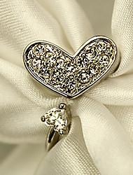 anel de gemstone coração