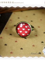 ts anel ajustável ponto vermelho polca (1.4x1.4cm)