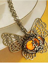 янтарь бабочка ожерелье