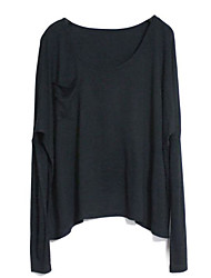 Europe Style Low Pockets Loose Fit Pullover T-Shirt