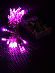 3M 30-LED Pink Light 2-Mode LED String Fairy Lamp for Christmas (3xAA)