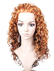 laço frontal superior grau de qualidade longa peruca encaracolada sintético