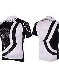 KOOPLUS Ciclismo Blusas / Camisa Homens Moto Respirável / Secagem Rápida Manga Curta Poliéster / 100% Poliéster BrancoXS / S / M / L / XL