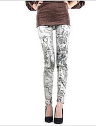 mundiais de couro mapa leggings impressão