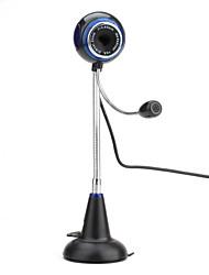 8 Megapixel Desktop USB 2.0 Webcam with Microphone (Black)
