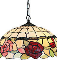 Lámpara Chandelier Tiffany con 2 Bombillas - REDAN