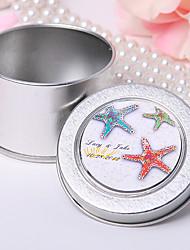 персонализированных олова мяты - красочные морские звезды (набор из 12)