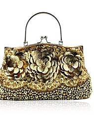 Hand-Made Stone Evening Bag With Flowers Front