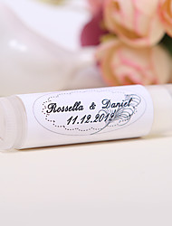 Personlized Lip Balm Tube Favors - Feather (Set of 12)