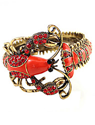 rouge bracelet de cristal de homard de conception