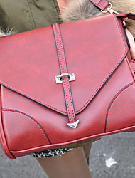 Arrow Lock Faux Cowhide Cross-body Bag(30cm*21cm*1cm)