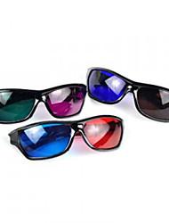 kunststof frame hars lens stereoscopische blauwe + rode 3d film speciale bril (willekeurige kleur)