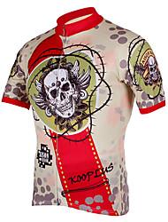 Kooplus Maillot de Cyclisme Homme Manches courtes Vélo Maillot Hauts/Tops Séchage rapide Zip frontal Respirable 100 % Polyester Crânes