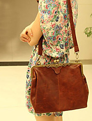 Retro Clip Lock Cross-body Bag(30cm*10cm*24cm)