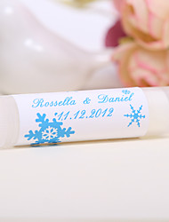 Personlized Lip Balm Tube Favors - Snowflake (Set of 12)