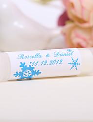 Personlized Lip Balm Tube Favors - Snowflake (Set of 12)