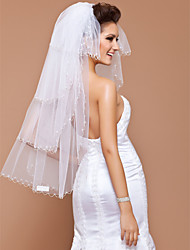 Four-tier Tulle Fingertip Wedding Veil With Scalloped Edge (More Colors Available)