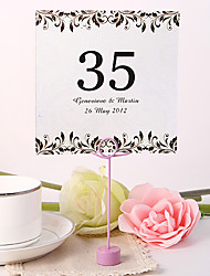 Place Cards and Holders Personalized Square Table Number Card - Artistic Leaf (Set fo 10)