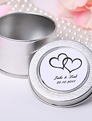 Personalized Mint Tin - Embracing Hearts (Set of 12)