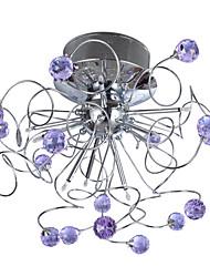 9 - света потолка кристалл с 4 цвета