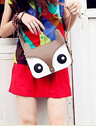 PU Fox Design Crossbody Bag