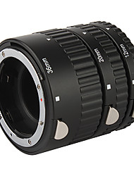 High Quality 3-Piece Macro Extension Tube Set for Nikon D-SLR - Black