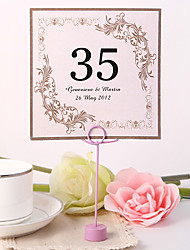 Pearl Paper Table Number Cards - 10 Piece/Set