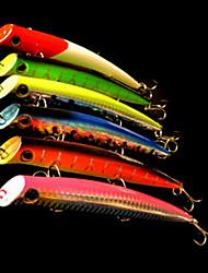 1 pcs Isco Duro / Popper de Pesca / Iscas Isco Duro / Popper de Pesca Verde / Laranja / Rosa / Amarelo / Azul / Vermelho 18 g/5/8 Onça,130