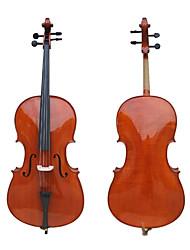 ручной атласа твердого клена пламени виолончели с подставкой