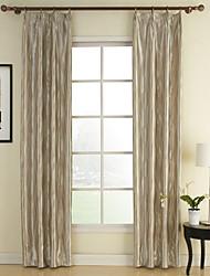 (dos paneles) rococó sala de color beige cortinas de oscurecimiento