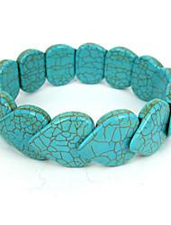 Bracelet volet en forme de coeur turquoise dames élastiques des