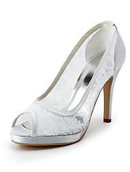 Satin Stiletto Heel Platform Wedding Shoes (More Colors Available)