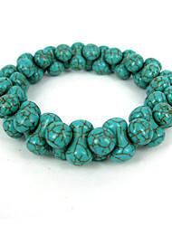Bracelet volet transfrontalier osseuse conception turquoise élastique dames