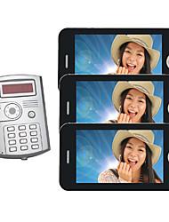 "iDear 7"" Color  Video Door For Villa Camera with 3 Monitor"