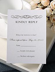 Convites de casamento Cartões de resposta Cartão Raso Personalizado 50 Peça/Conjunto